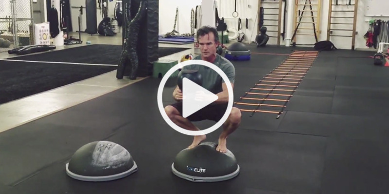 Squats on BOSU Elite
