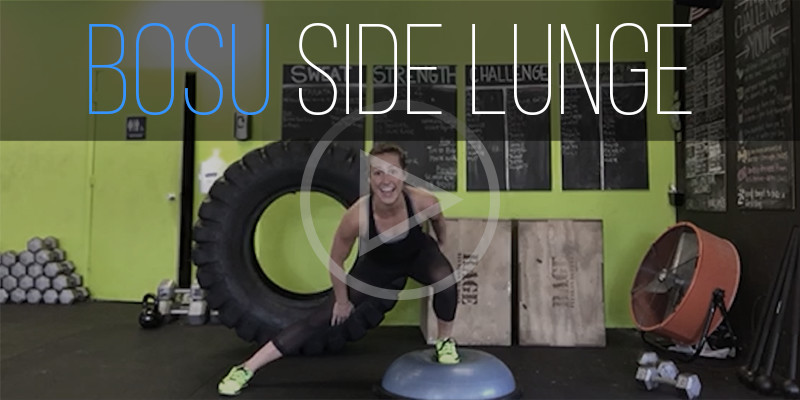 BOSU Ball Exercises - Side Lunges