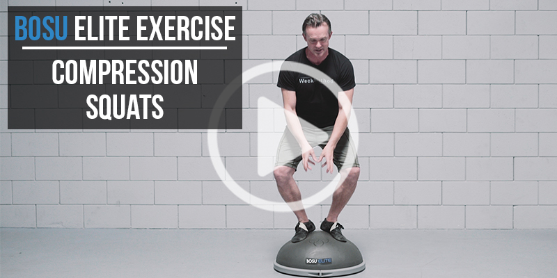 BOSU Elite Exercise: Compression Squats