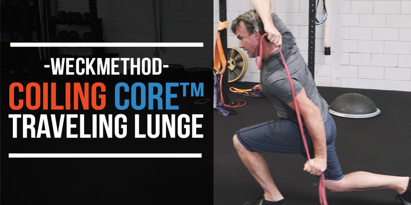 WeckMethod Training: Coiling Core Traveling Lunges