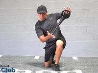Thumb half kneeling dynamic rotation