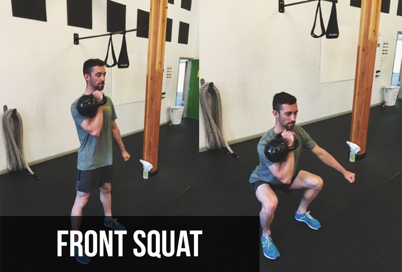 Kettlebell Exercises | Front Squat